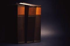 Trzy Stara książka fotografia royalty free