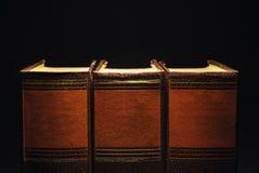 Trzy Stara książka obraz royalty free