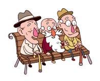 Trzy stary człowiek Fotografia Stock