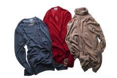 trzy swetry Obrazy Stock