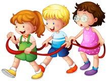 Trzy szczęśliwego dzieciaka ilustracja wektor