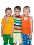 Trzy szczęśliwej chłopiec Obraz Stock