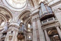 Trzy sześć organów bazylika Mafra pałac Zdjęcia Stock
