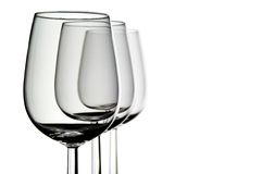 trzy szklanki wina. fotografia royalty free