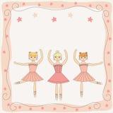 Trzy target216_1_ ślicznej baleriny royalty ilustracja