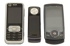 trzy telefony komórkowe. obraz stock
