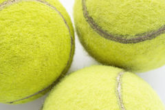Trzy tenisowej piłki Fotografia Stock