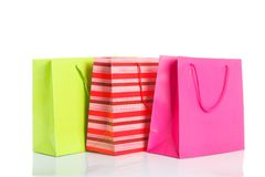 Trzy torba na zakupy Zdjęcie Stock