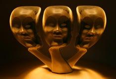 trzy twarze Obrazy Royalty Free