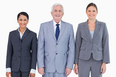Trzy uśmiechniętego biznesmena Zdjęcie Stock