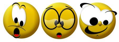 trzy uśmiechy Obraz Stock