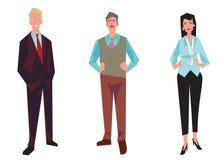 Trzy urzędnika, pracownicy, kierownicy royalty ilustracja