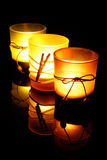 trzy świece Obraz Stock