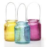 Trzy świeczki kolorowy pamflet Obraz Stock