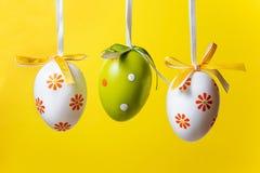 Trzy Wielkanocnego jajka Zdjęcia Stock