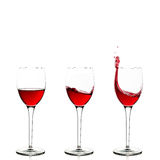 Trzy wineglasses Obrazy Stock