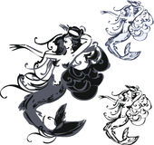 Trzy wodna boginka Zdjęcia Royalty Free