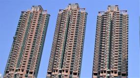 Trzy wysokiego budynku w HongKong Zdjęcie Royalty Free
