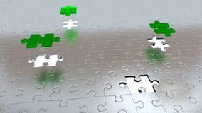 Trzy Zielonego kawałka nad wszystkie inni Popielaci kawałki z Cztery Białymi dziurami Zdjęcia Stock