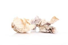 Trzy zmięte stare papierowe piłki Fotografia Royalty Free