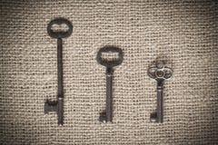 Trzy Zredukowanego klucza Obrazy Stock