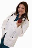trzydzieści atrakcyjna doktorska życzliwa latynoska kobieta obraz stock