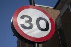 Trzydzieści prędkości znak Zdjęcie Royalty Free