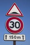 Trzydzieści prędkości znak Fotografia Stock