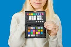 Trzymać kamera koloru korekcję Obraz Royalty Free