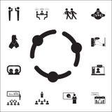 trzymać ręki ikonę Rozmowy i przyjaźni ikon ogólnoludzki ustawiający dla royalty ilustracja
