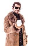 Trzymać Snowball Fotografia Royalty Free