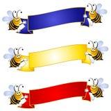 trzymać bumblebees sztandarów Zdjęcie Stock