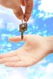 trzymać klucza Fotografia Royalty Free
