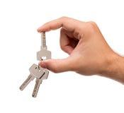 Trzymać klucze Zdjęcie Royalty Free