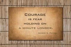 Trzymający dalej minutowy długiego - George S patton Zdjęcie Stock