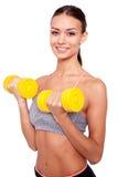 2 3 trzymaj barbells lb szkolenia wagi Obrazy Royalty Free