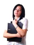 trzymaj falcówki kobiety pracy Obraz Royalty Free