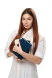 trzymaj kobietę książki młoda Zdjęcia Royalty Free