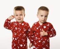 trzymaj ręce męskich bliźniaczki Obraz Royalty Free