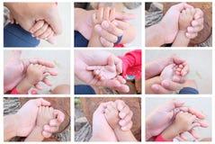trzymaj rękę ojca dziecka jest Zdjęcie Royalty Free