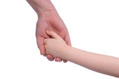 trzymaj ręce syna matki Obrazy Royalty Free