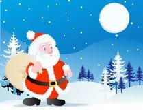 trzymaj Santa Claus bagażu zabawkę royalty ilustracja