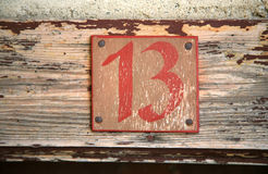 trzynaście Zdjęcie Stock