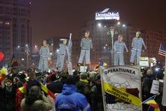 Trzysta tysiąc ludzie protestów Zdjęcie Royalty Free