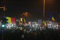 Trzysta tysiąc ludzie protestów Obraz Royalty Free