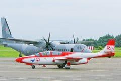 TS-11 Iskra -董事会第4在起飞去。 库存图片