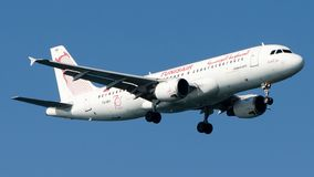 TS-IMH Tunisair, Airbus A320-200 stock photography