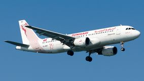 TS-IMV Tunisair, Airbus A320-200 royalty free stock photo