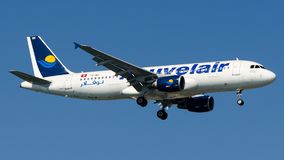 TS-INH Nouvelair, Airbus A320-200 stock photography