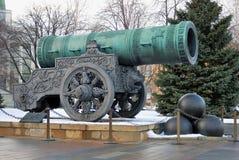 Tsaar Pushka (Koning Cannon) in Moskou het Kremlin Kleurenfoto Stock Foto